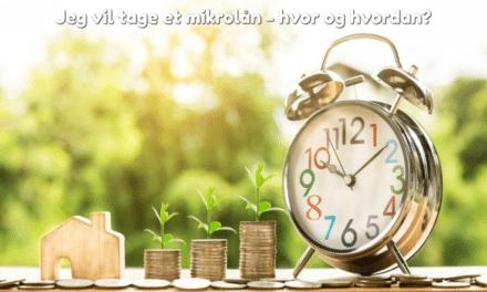 Jeg vil tage et mikrolån – hvor og hvordan?